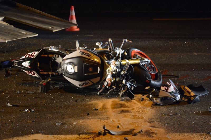 M con infos le web journal du m connais loch un motard gri vement bless route des allemands - Accident de voiture coup du lapin ...